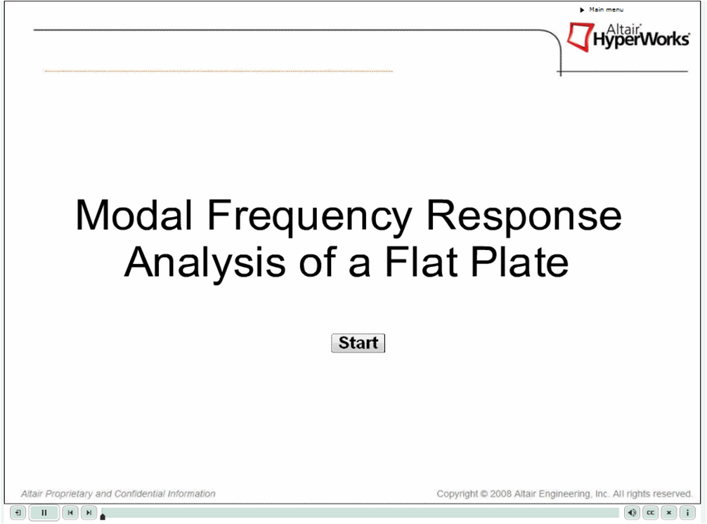 Modal Frequency Response Analysis of a Flat Plate (Video) - Altair