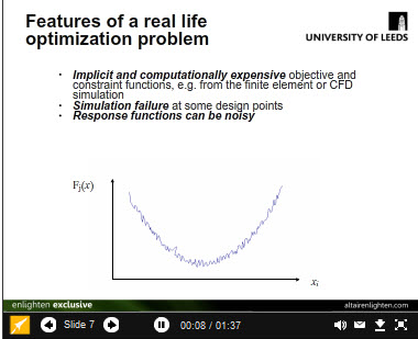 An Overview of Design Optimization Tools (recorded lecture by Prof. Vassili Toropov, University of Leeds)