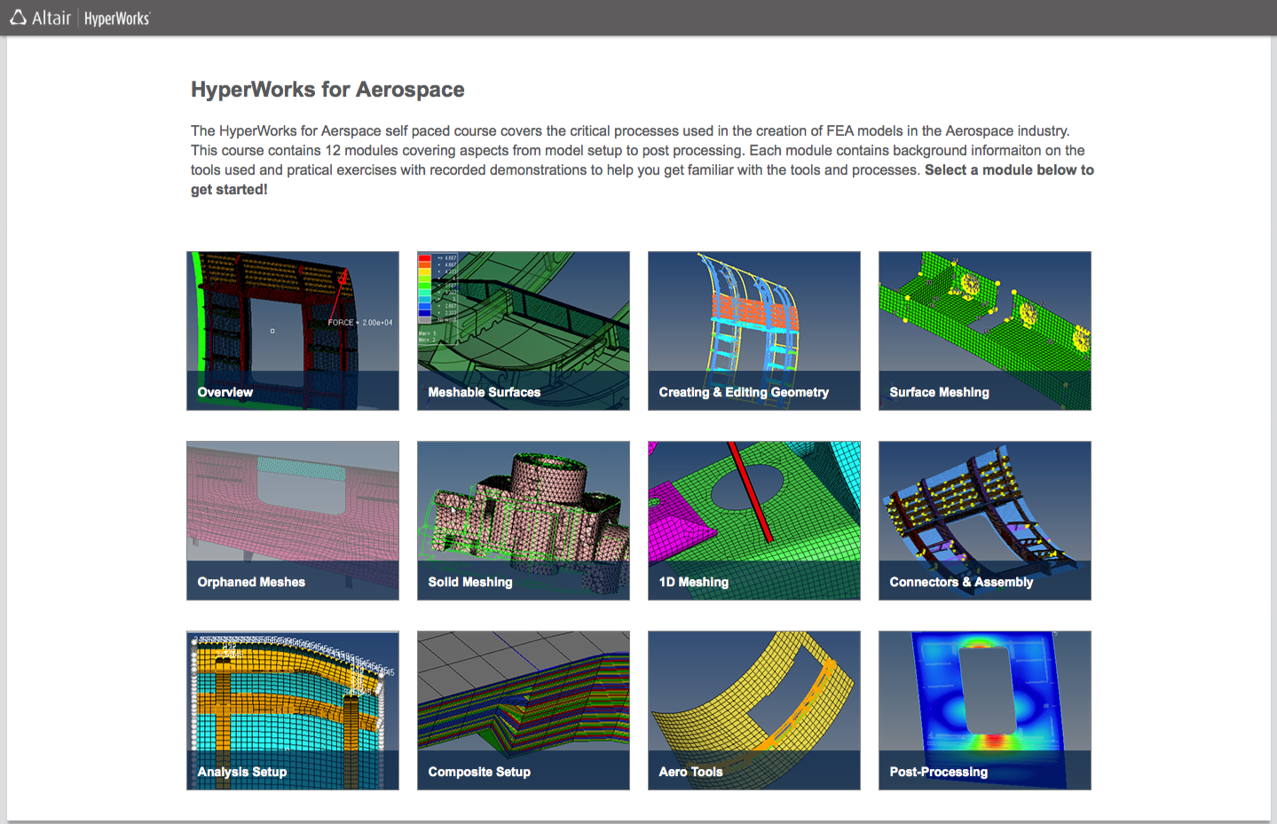 HyperWorks for Aerospace