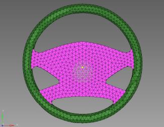 Tetrahedral-meshing of a Steering Wheel