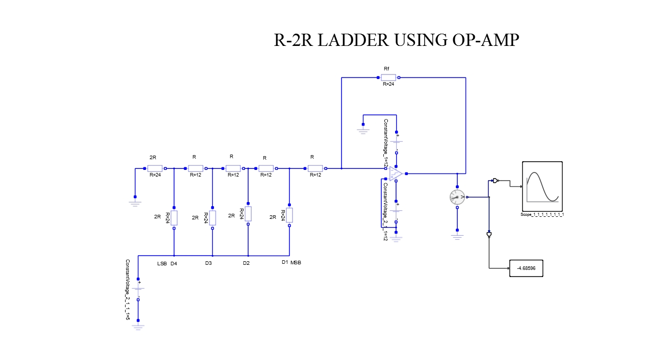 R 2r Ladder Using Op Amp Altair University Diagram