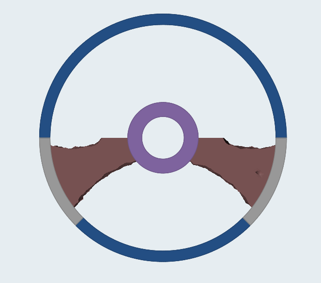 Design concept of a steering wheel