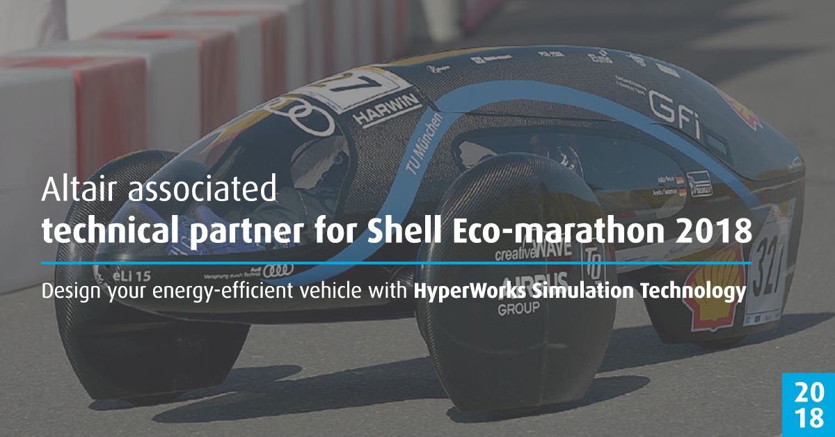 b0dd98789c Altair is a New Technical Partner for Shell Eco-marathon 2018 ...