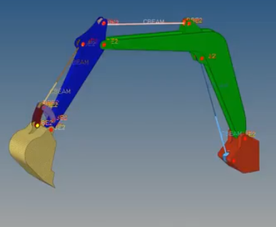 Многомодельная топологическая оптимизация стрелы экскаватора в Altair OptiStruct