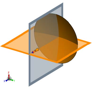 Feko Example Video Series H.3 Horn Feeding a Large Reflector