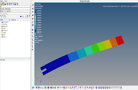 Modal Analysis of a Cantilever Beam using HyperMesh and OptiStruct