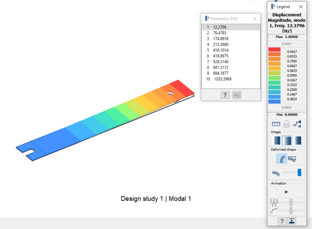 Modal Analysis of the Cantilever beam using Altair SimSolid