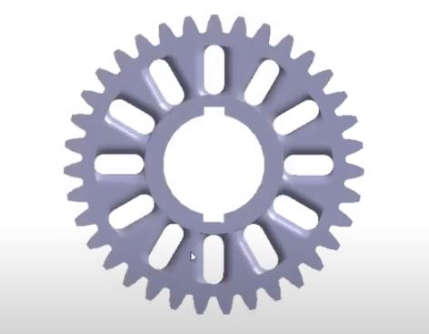 Static Structural Analysis of a Student Baja Car Transmission Gear in Altair Simsolid