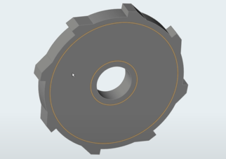 Topology optimization of a Student Car Gear Component using Altair Inspire