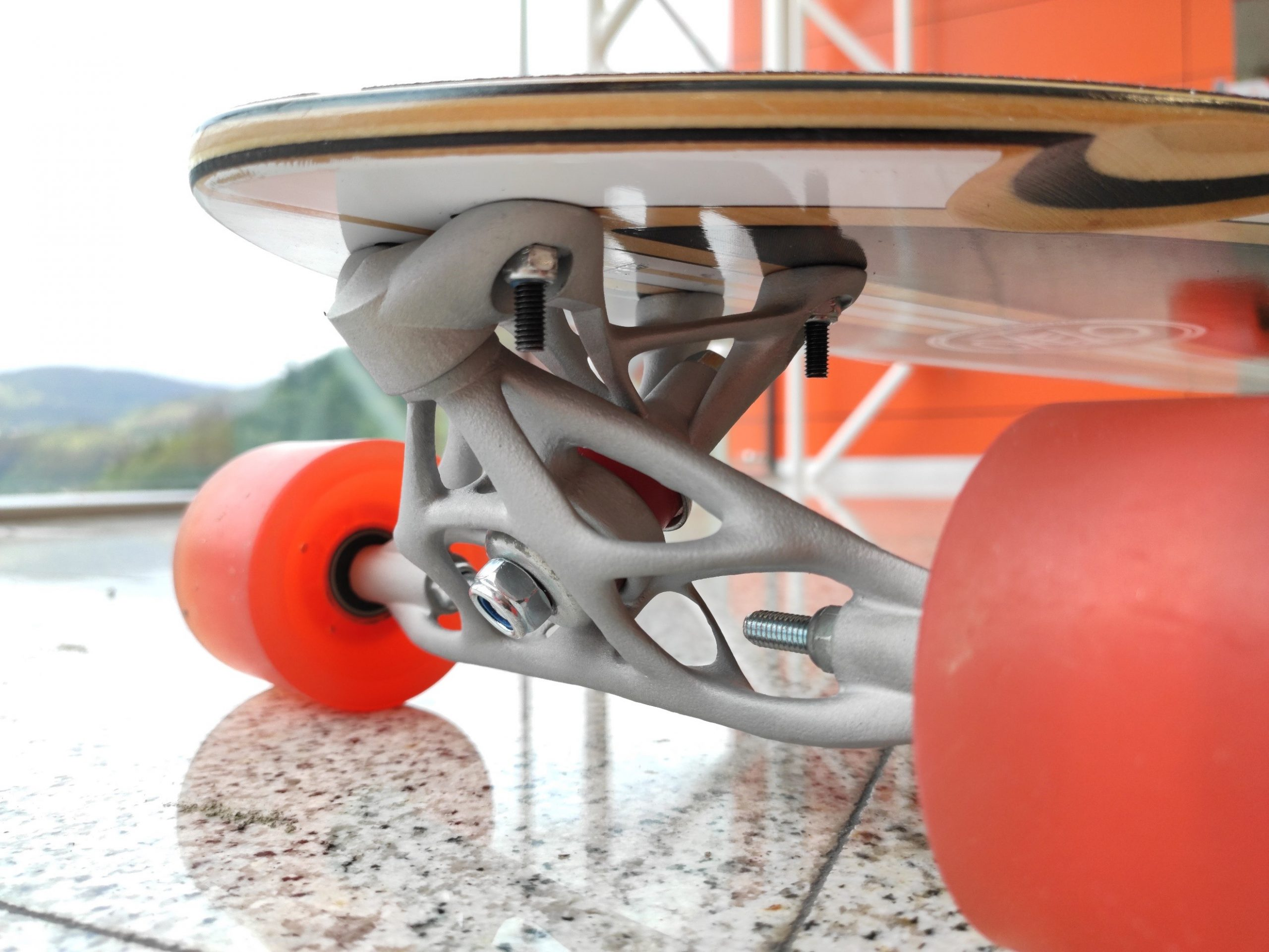 Optimized Skate-truck Design for Additive Manufacturing with Altair Inspire