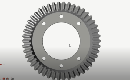 Static Structural Analysis of a Student Car Ring Gear in Altair Inspire