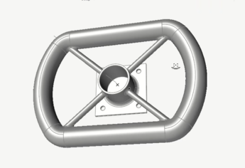 Static Structural Analysis of a Student Car Steering Wheel in Altair Inspire