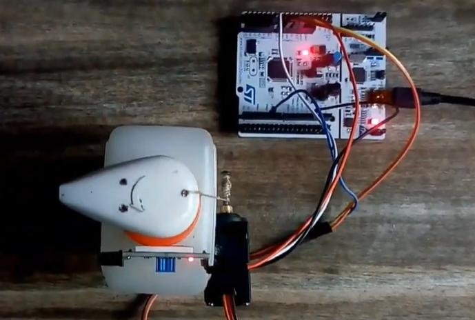 STM32F303RE Automatic Hand Sanitizer Dispenser With Active IR Sensor